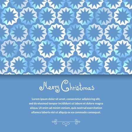 Whinter abstract vector background with snowflakes with horizontal space for text Vector