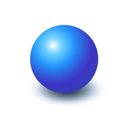 Blank blue sphere, vector illustration in realistic style, template for design