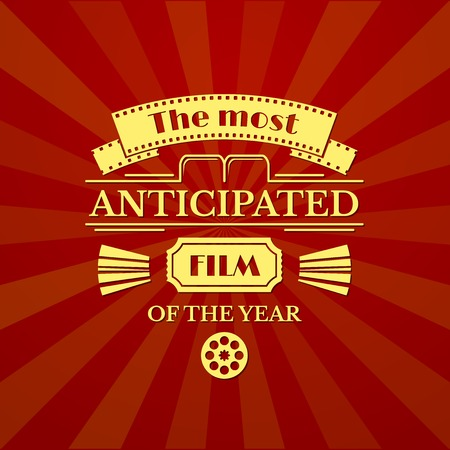 movie screen: The most anticipated film of the year, movie typography, vector illustration Illustration