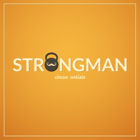 strongman: Strongman circus concept design illustration