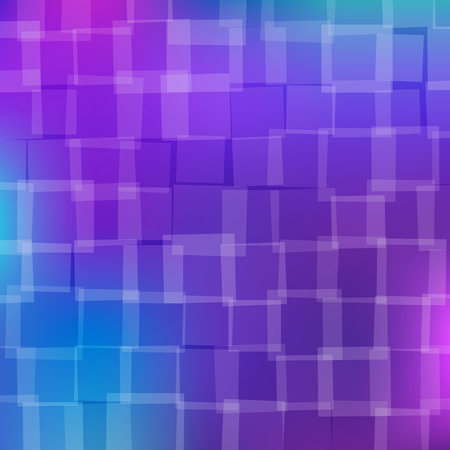 chaotically: abstract background with chaotically located blue and violet squares