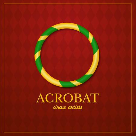 acrobat: Acrobat circus typography design, circus artist, illustration on vintage background