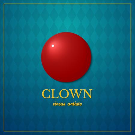 circus artist: Clown logo, circus typography design, circus artist, vector illustration on vintage background