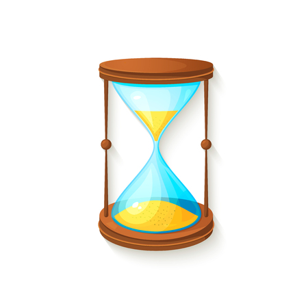 hourglass: Hourglass 3d icon, beautiful realistic illustration