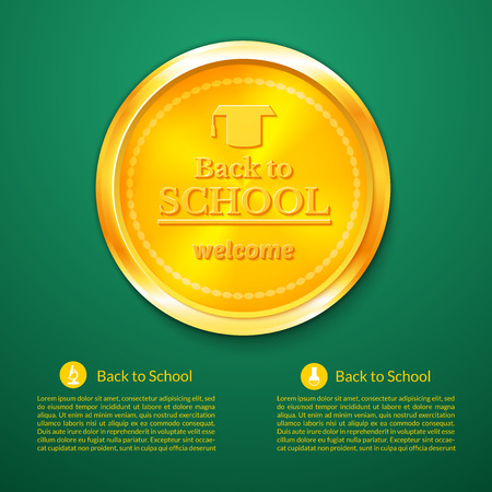 beginning school year: Back to school a gold medal, congratulations with the beginning of the school year