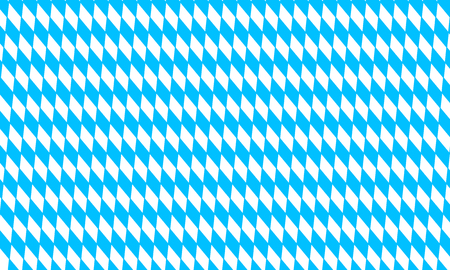 Oktoberfest pattern with blue and white rhombus, flag of Bavaria, diamonds background