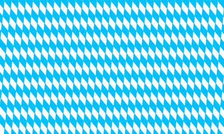 Oktoberfest pattern with blue and white rhombus, flag of Bavaria, diamonds background