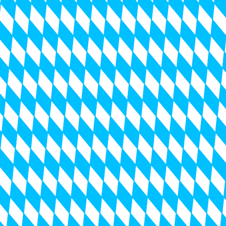 disposed: Oktoberfest holiday background with blue and white rhombus disposed diagonally, flag Bavaria