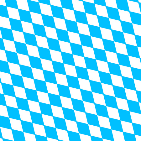disposed: Oktoberfest holiday  background with blue and white rhombus disposed diagonally, flag Bavaria Illustration