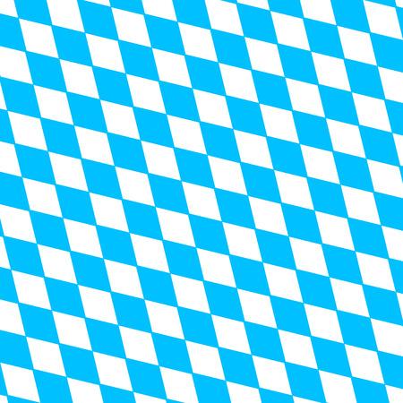 diagonally: Oktoberfest holiday  background with blue and white rhombus disposed diagonally, flag Bavaria Illustration