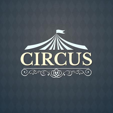 Circus icon, vintage badge, illustration isolated on background