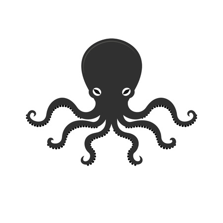 Big octopus vector illusrtation, sea monster, underwater food 일러스트
