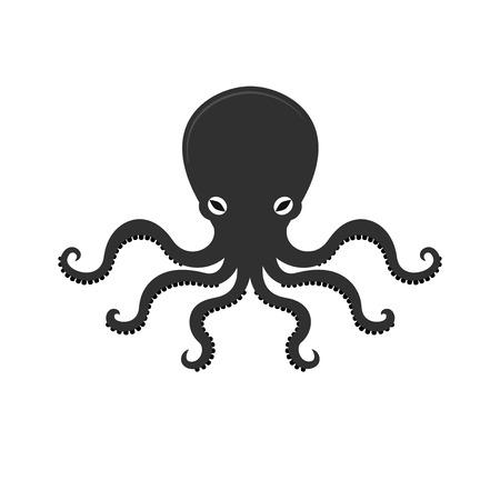 Big octopus vector illusrtation, sea monster, underwater food Illustration