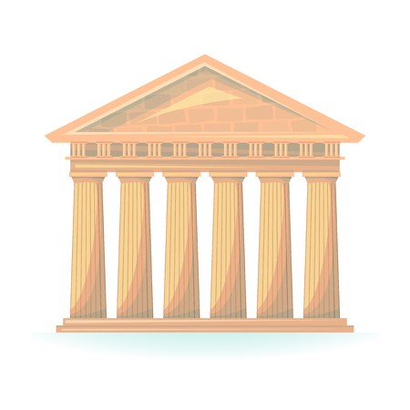 hermes: Ancient Temple of Hermes vector illustration isolated on background