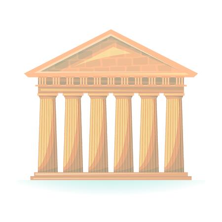 Antike Tempel Illustration Hermes Vektor isoliert auf Hintergrund