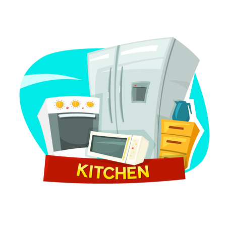 kitchen appliances: Kitchen concept design with kitchen appliances
