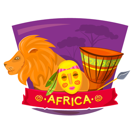 Safari Party Poster, Africa Style Night Club, Vector