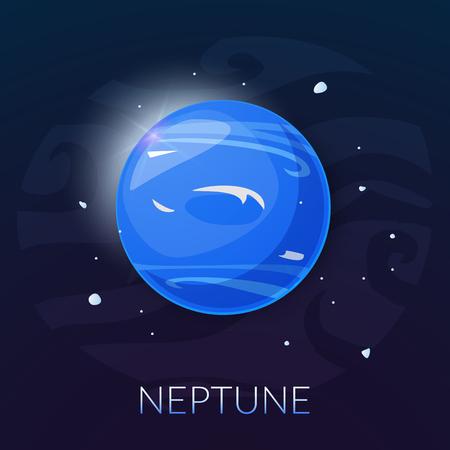 neptune: The planet Neptune, vector illustration isolated on background Illustration