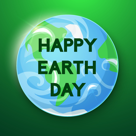 ilustration: Happy Earth Day, concept design vector ilustration