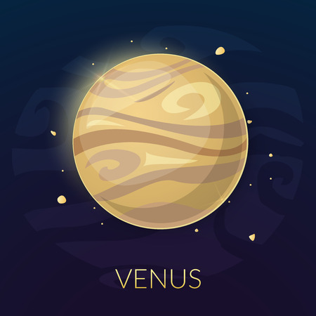 venus: The planet Venus, vector illustration isolated on background Illustration