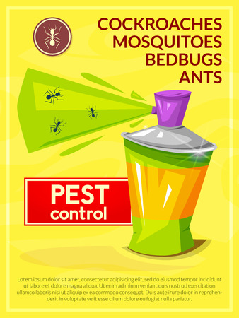 Pest control vector poster