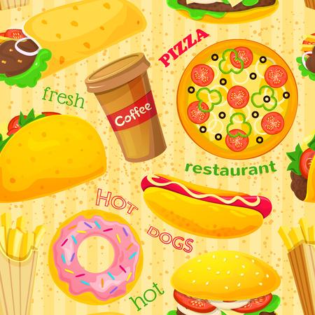 Fast food vector naadloos patroon