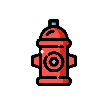 Red fire hydrant vector illustration