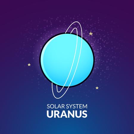 uranus: Planet Uranus vector illustration