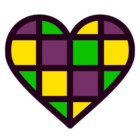 Colorful heart vector illustration Illustration
