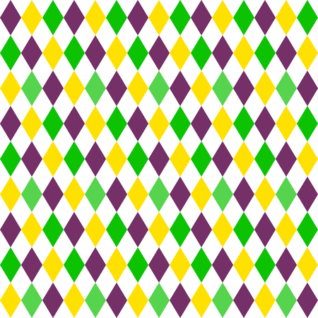 diamond texture: Mardi Gras seamless pattern