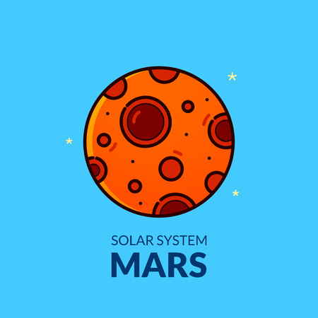 moon rover: Terrestrial planet Mars vector illustration Illustration