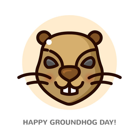 Groundhog day vector illustration Illustration