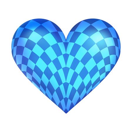 Balloon heart with Oktoberfest pattern, german beer fest decor, realistic vector illustration