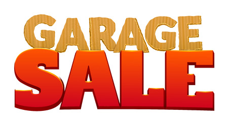 yard sale: Garage Sale vector illustration.