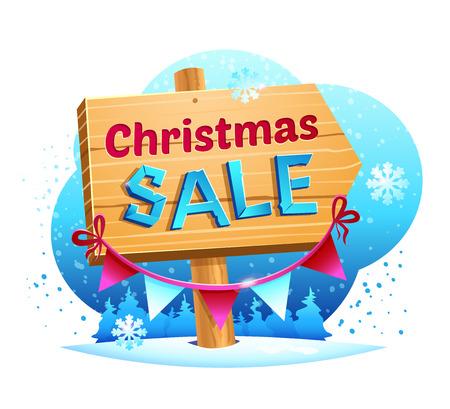 Christmas Sale, vector illustration