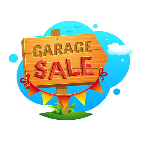 Garage Sale, vector illustration Illustration