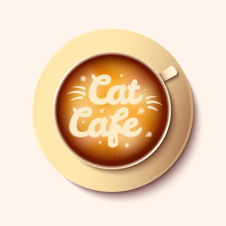 Cat cafe vector illustration Illustration