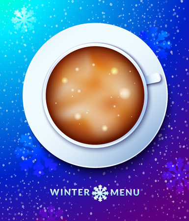Winter menu concept design, vector illustration