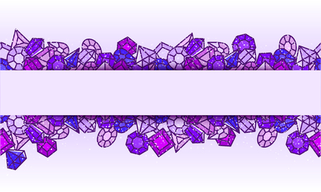 Jewels vector background
