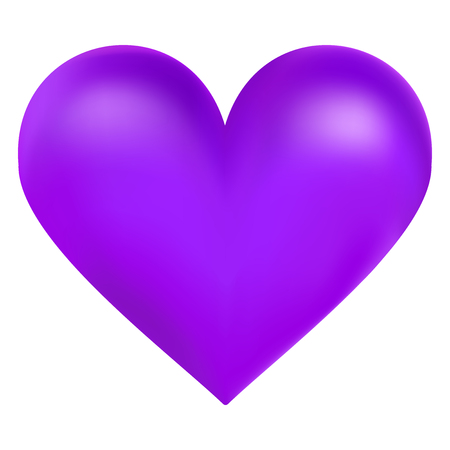 Violet color big heart, vector illustration