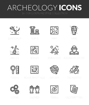 Conjunto de iconos de contorno negro