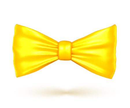 Golden color bow, vector illustartion isolated from background