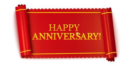 Happy anniversary horizontal banner Illusztráció