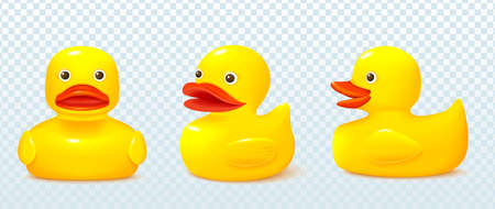 Rubber duck, vector illustration in realistic style