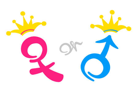 The royal family heir concept vector illustration