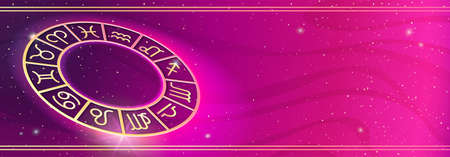 Personal horoscope prediction on magic background