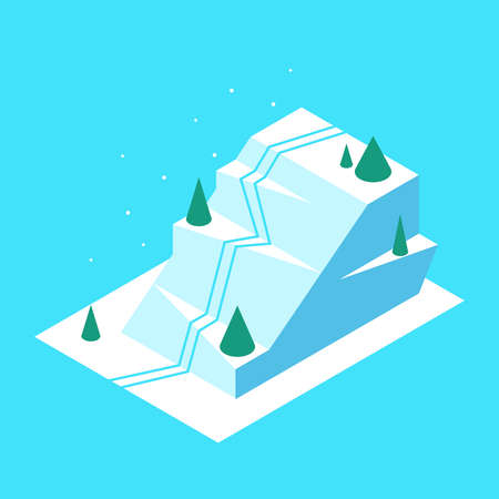 Polygonal mountain in isometric style Vettoriali