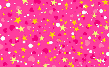 Background with confetti. Vector illustration. Valentines day background