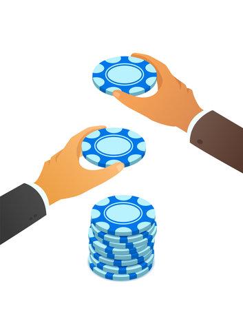 Blue chips stock sale concept, vector illustration