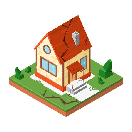 Icon House in isometric style, vector illustration